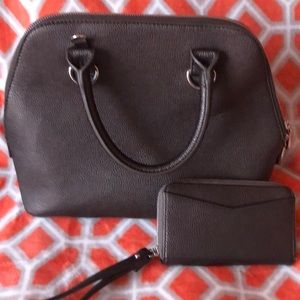 Grey purse and wallet from Charming Charlie.